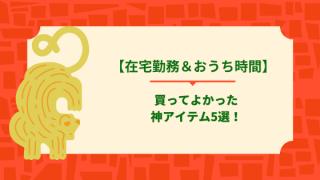 【在宅勤務&おうち時間】買ってよかった神アイテム5選!
